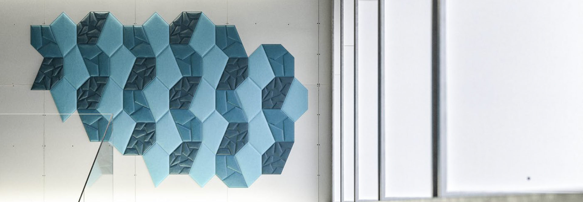 SUSTAINABLE ACOUSTIC PANELS WITH VIRTUAL MATERIAL TECHNOLOGY MEET GENERATIVE SYSTEMS.